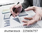 businessman analyzing... | Shutterstock . vector #225606757