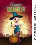 halloween vector illustration | Shutterstock .eps vector #225617713