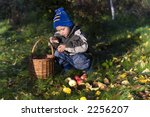 little boy posing outdoors with ... | Shutterstock . vector #2256207