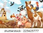 illustration of many animals in ...