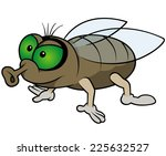 waiting fly   colored cartoon... | Shutterstock .eps vector #225632527