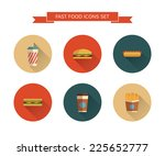 Постер, плакат: Fast Food icons set