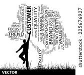 vector concept or conceptual...   Shutterstock .eps vector #225676927