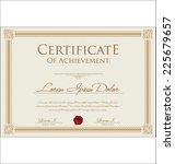 certificate template | Shutterstock .eps vector #225679657