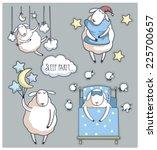 cute cartoon sheep in vector.... | Shutterstock .eps vector #225700657