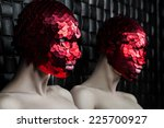 man in a red mask near the... | Shutterstock . vector #225700927