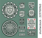 college athletic sport labels... | Shutterstock .eps vector #225700963
