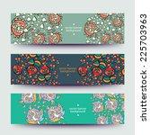 set of varicolored line... | Shutterstock .eps vector #225703963