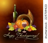 Greeting Card With Cornucopia ...