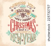 christmas and new year holiday... | Shutterstock .eps vector #225732757