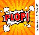 Plop  Comic Expression Vector...