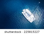 amazing view to yacht sailing... | Shutterstock . vector #225815227