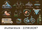 set travel  hiking  camp... | Shutterstock .eps vector #225818287