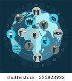 social networking business... | Shutterstock .eps vector #225823933