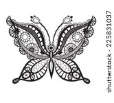 lacy abstract butterfly | Shutterstock .eps vector #225831037