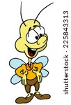 cheerful fly   cartoon... | Shutterstock .eps vector #225843313