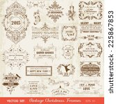 vector set  christmas... | Shutterstock .eps vector #225867853