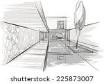 architecture sketch | Shutterstock .eps vector #225873007