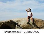 athlete man in sportswear... | Shutterstock . vector #225892927