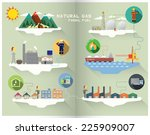 natural gas graphic | Shutterstock .eps vector #225909007