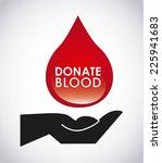 donate blood graphic design  ... | Shutterstock .eps vector #225941683