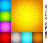 Rays Or Starburst Backgrounds...