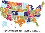 united states names | Shutterstock .eps vector #225943573