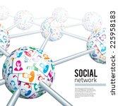 social network concept. eps10.... | Shutterstock .eps vector #225958183
