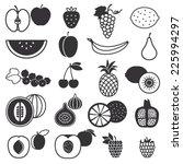 fruit silhouette icons set | Shutterstock .eps vector #225994297