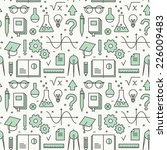 seamless pattern with school... | Shutterstock .eps vector #226009483