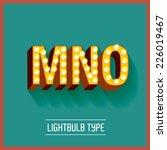 lightbulb typeface vector...   Shutterstock .eps vector #226019467