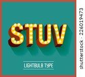 lightbulb typeface vector... | Shutterstock .eps vector #226019473