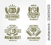 set of vintage monochrome badge ... | Shutterstock .eps vector #226034323