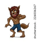 wolfman is standing with a smile | Shutterstock .eps vector #226036267