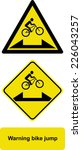 warning bike jump | Shutterstock .eps vector #226043257