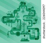 green factory industry... | Shutterstock .eps vector #226044097