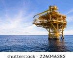 offshore production platform in ... | Shutterstock . vector #226046383