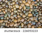 Wet Pebble Stone Background