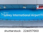 sydney  may 17   welcome board... | Shutterstock . vector #226057003