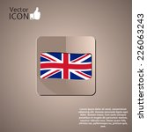 flag united kingdom. made in... | Shutterstock .eps vector #226063243