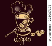 cup of coffee doppio for... | Shutterstock . vector #226067173