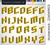 perfect 3d alphabet from the... | Shutterstock .eps vector #226069813