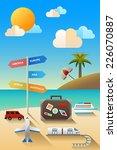 a vector illustration of travel ... | Shutterstock .eps vector #226070887