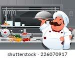 a vector illustration of chef... | Shutterstock .eps vector #226070917