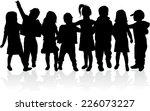 children silhouettes | Shutterstock .eps vector #226073227