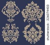 vector set of damask ornamental ... | Shutterstock .eps vector #226074403