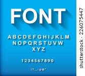 3d font.  vector illustration.  | Shutterstock .eps vector #226075447