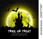 happy halloween message design... | Shutterstock .eps vector #226077487