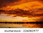 Sunset Over Lake In Ballarat ...