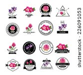 flower shop icons. vector... | Shutterstock .eps vector #226091053